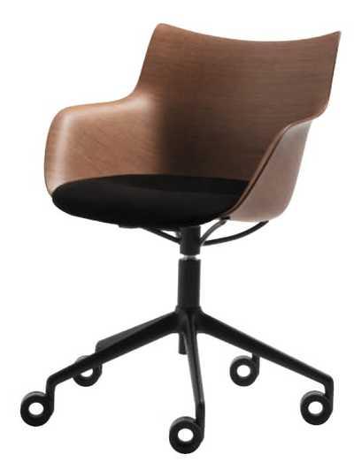 Q/Wood Soft Bureaustoel