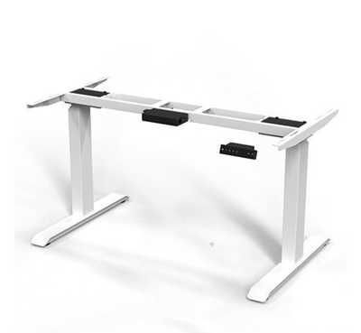 ERGO.RISE zit-sta bureau met Linoleum blad 140cm