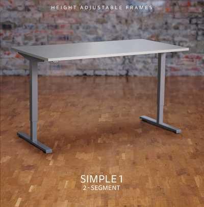 SIMPLE 1 - Elektrisch verstelbare zit/sta bureau tafel