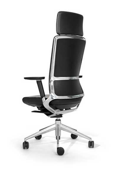 Bureaustoel TNK 500 polished - full leather - headrest