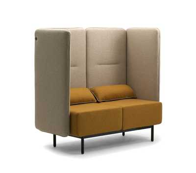 AROUND 2-seater sofa with high backrest