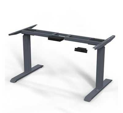 ERGO.RISE zit-sta bureau met Linoleum blad 160cm